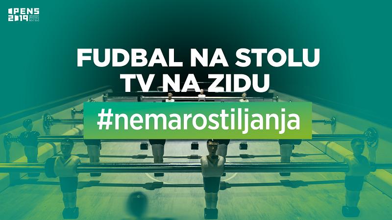"""FUDBAL NA STOLU, TV NA ZIDU"" #nemaroštiljanja"