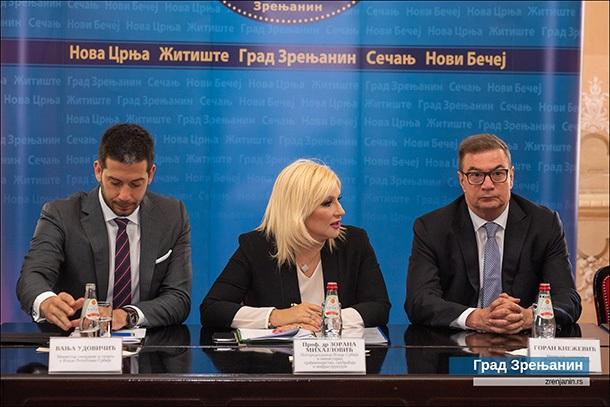 POTPREDSEDNICA VLADE ZORANA MIHAJLOVIĆ: ZRENJANIN JEDNA OD TAČAKA NOVOG INVESTICIONOG CIKLUSA U SRBIJI