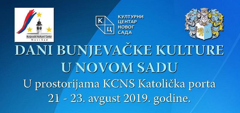 """""""DANI BUNJEVAČKE KULTURE"""" OD 21. AVGUSTA U KCNS"""