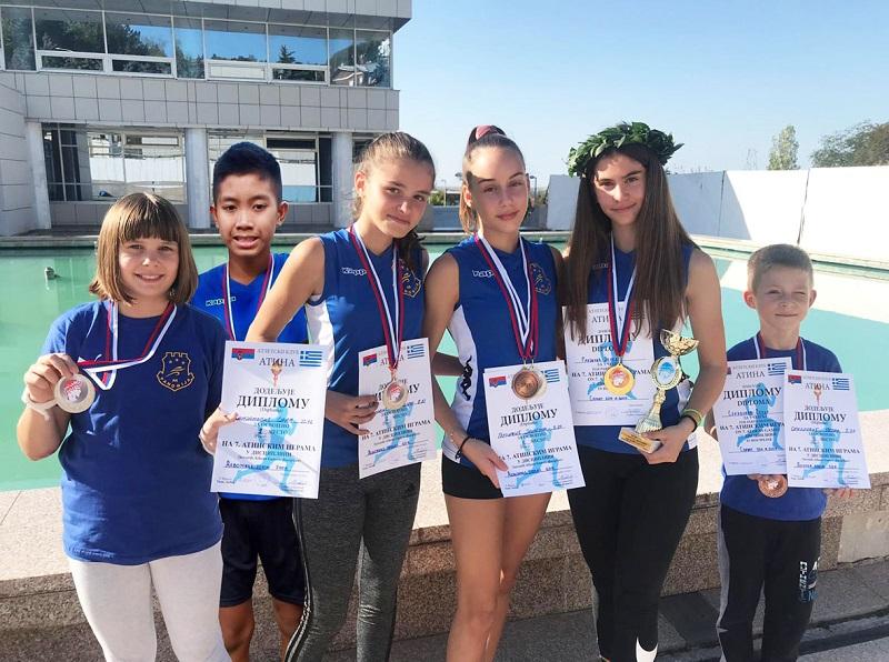 PANONIJIA SA NOVIH DVANAEST MEDALJA Uspešni nastupi najmlađih atletičara