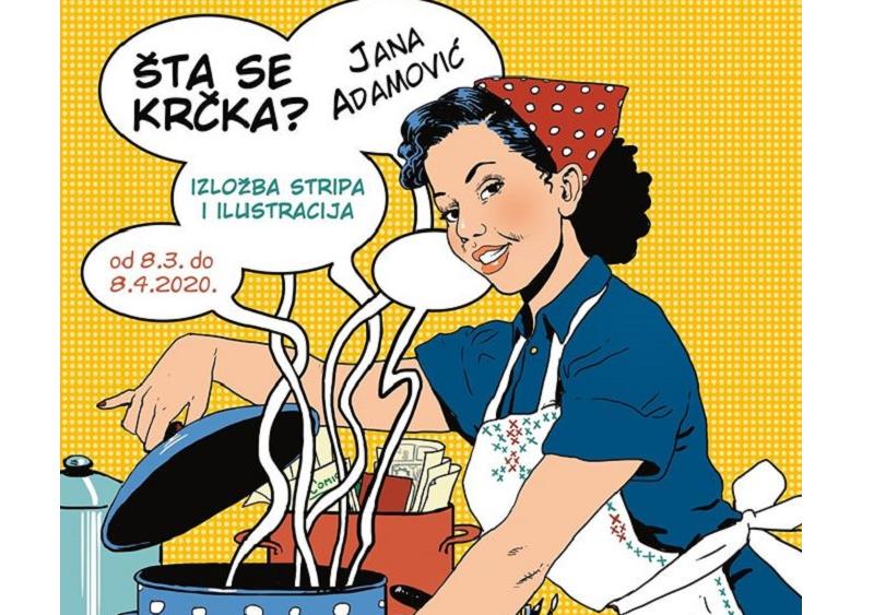 "PANČEVO: IZLOŽBA STRIPA ""ŠTA SE TO KRČKA"" JANE ADAMOVIĆ"