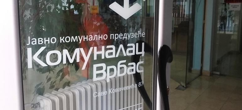 "ЗАТВАРA СЕ ШАЛТЕР САЛА ЈКП ""КОМУНАЛАЦ"" ВРБАС"